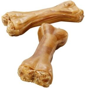 Kauknochen aus 100 % Pferdehaut - 3 x 12 cm