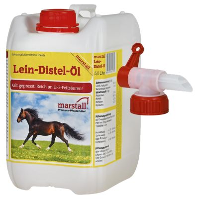 Marstall Lein-Distel-Öl mit Hahn - 2 x 5 l