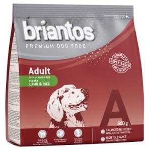 1 + 1 gratis! 2 x 800 g Briantos Adult Lamm & Reis - 2 x 800 g