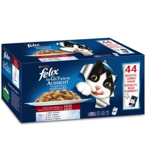 1-Klick Paket: 20 l Cat's Best Ökostreu + Felix Katzenfutter - Cat's Best Öko Plus + 88 x 100 g Felix
