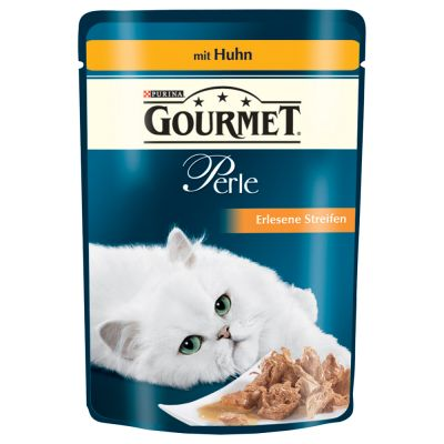 1-Klick Paket: 20 l Cat's Best + Gourmet Perle Nassfutter - Cat's Best Öko Plus + 48 x 85 g Gourmet Perle