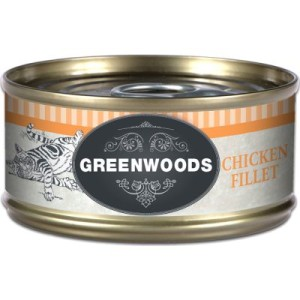 10 + 2 gratis! 12 x 70 g Greenwoods Adult - Hühnchenfilet
