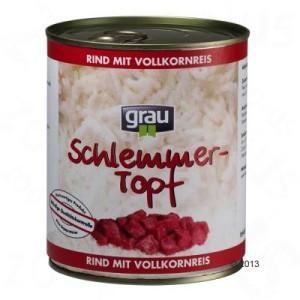 10 + 2 gratis! 12 x 800 g Grau Schlemmertöpfe - Rind mit Vollkornreis