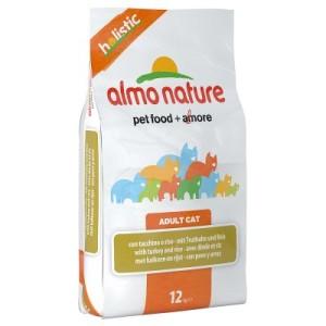 10 kg + 2 kg gratis! 12 kg Almo Nature Holistic - Fettfisch & Reis