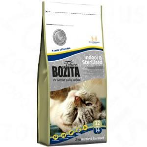 10 kg Bozita Feline + 6 x 190 g Bozita Nassfutter gratis! - Indoor & Sterilised