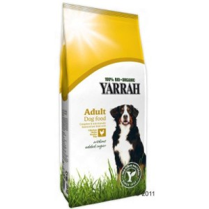 10/15 kg Yarrah Bio Hundefutter + Bio Hundekotbeutel gratis! - Ökologisches Hundefutter mit Huhn & Getreide (15 kg)