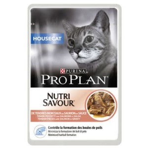 11 + 1 gratis! 12 x 85 g Pro Plan Nassfutter - Housecat Lachs & Sterilised Rind