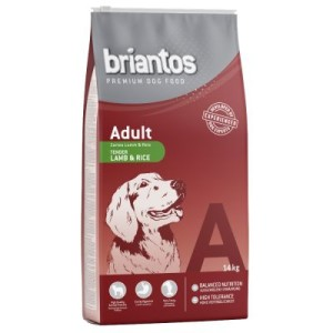 11 kg + 3 kg gratis! 14 kg Briantos Trockenfutter - Adult Lamm & Reis
