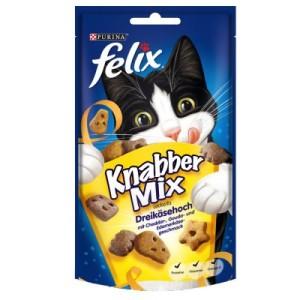 12 + 6 gratis! 12 x 60g Felix KnabberMix + 6 x 45 g Crispies -12 x 60 g Knabbermix + 6 x 45 g Crispies