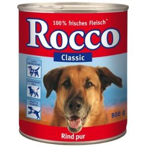 12 x 800 g Rocco Classic + 150 g Rocco Cubes gratis! - Rind mit Kalbsherzen