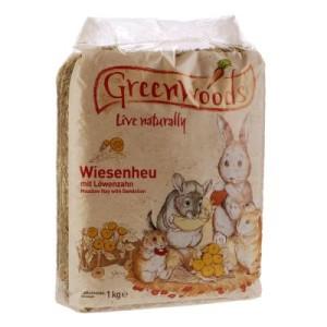 2 + 1 gratis! 3 x 1 kg Greenwoods Wiesenheu - Löwenzahn