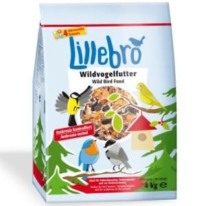 2 + 1 gratis! 3 x 4 kg Lillebro Wildvogelfutter - 12 kg schalenfrei