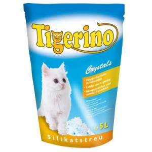 2 + 1 gratis! 3 x 5 l Tigerino Crystals Katzenstreu - Crystals Fun - buntes Katzenstreu - blau