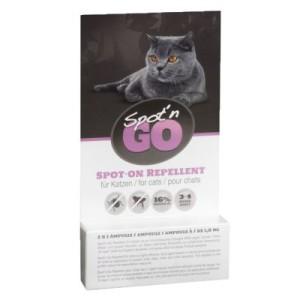 2 + 1 gratis! Spot'n Go Zeckenschutzmittel für Katzen - 3 x (2 x 1
