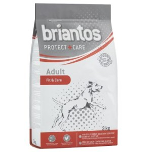 2 kg + 1 kg gratis! 3 kg Briantos Trockenfutter - Mini Active & Care