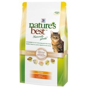 2 kg Hill's Nature's Best Feline + 2 Baldriankissen gratis! - Adult Huhn