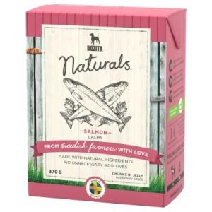 22 + 2 gratis! 24 x 370 g Bozita Naturals Häppchen in Gelee - Lachs