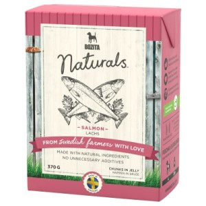 22 + 2 gratis! 24 x 370 g Bozita Naturals Häppchen in Gelee - Pute