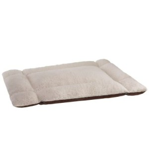 2in1 Bett mit Schaffellimitat - L 90 x B 70 (L 60 x B 40 x H 15) cm
