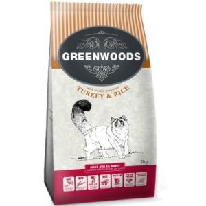 3 + 1 gratis! Greenwoods Trockenfutter 4 kg - Adult Truthahn