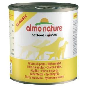 5 + 1 gratis! 6 x 280 g/290 g Almo Nature Classic - Kalb mit Schinken (290 g)