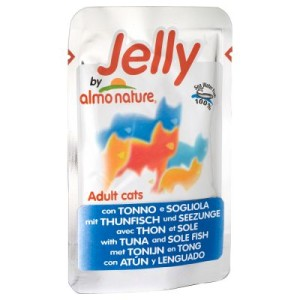 5 + 1 gratis! 6 x 70 g Jelly Pouch by Almo Nature - Thunfisch & Seezunge
