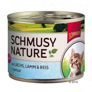 6 x 190 g Schmusy Nature Dose im gemischten Probierpaket - Kittenpaket