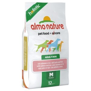 Almo Nature Adult Lachs & Reis Medium - Sparpaket: 2 x 12 kg