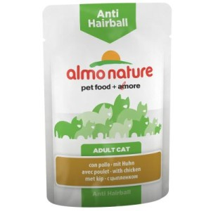 Almo Nature Anti Hairball Pouch 6 x 70 g - mit Huhn