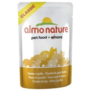Almo Nature Classic Pouch 6 x 55 g - Thunfisch & Huhn
