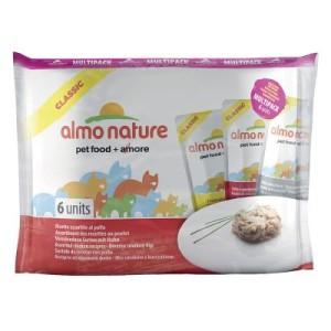 Almo Nature Classic Pouch Multipack 6 x 55 g - mit 3 Sorten Huhn