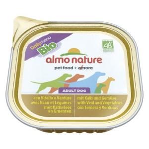 Almo Nature Daily Menu Bio 9 x 300 g - mit Rind & Gemüse