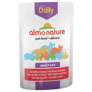 Almo Nature Daily Menu Pouch 6 x 70 g - Huhn & Rind