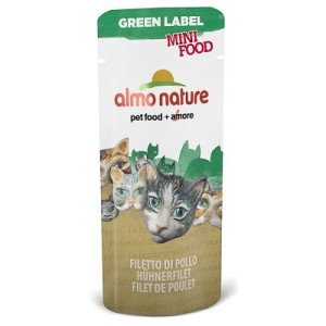 Almo Nature Green Label Mini Food - Sparpack: Thunfischfilet (25 x 3 g)