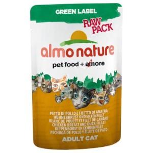 Almo Nature Green Label Raw im Frischebeutel 6 x 55 g - Mix: je 3 x Hühnerschenkel/Hühnerbrust