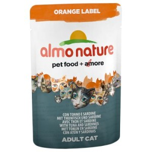 Almo Nature Orange Label Pouches 6 x 70 g - Thunfisch & Huhn