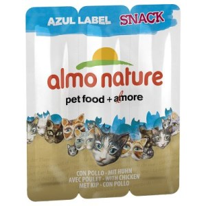 Almo Nature Snack Azul Label - Sparpack: Huhn (6 x 3 à 5 g)