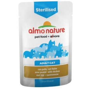 Almo Nature Sterilised Pouch 6 x 70 g - mit Huhn
