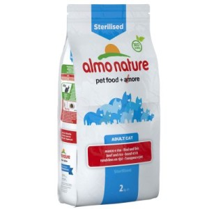 Almo Nature Sterilised Rind & Reis - 2 kg