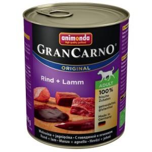 Animonda GranCarno Original Adult 6 x 800 g - Rind & Wild