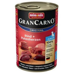 Animonda GranCarno Original Junior 6 x 400 g - Rind & Putenherzen