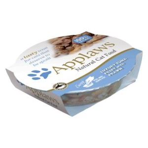 Applaws Cat Pot Katzenfutter 6 x 60 g - Exklusiver Thunfisch & Garnelen