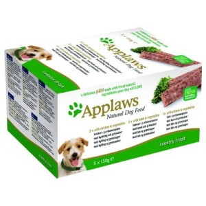 Applaws Dog Paté Probierpack 5 x 150 g - Country Selection: Hühnchen
