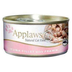 Applaws Katzenfutter 6 x 156 g - Thunfischfilet & Garnele