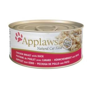 Applaws Katzenfutter 6 x 70 g - Hühnchenbrust mit Ente