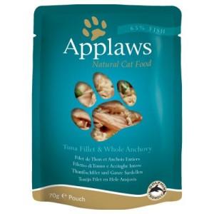Applaws Pouch Katzenfutter 12 x 70 g - Thunfisch mit Pazifik-Garnelen