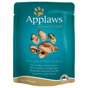 Applaws Pouch Katzenfutter 12 x 70 g - Thunfisch mit Sardellen