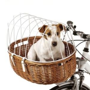 Aumüller Hunde-Fahrradkorb mit Schutzgitter - Halterung für Sattelstützenmontage für Mountainbikes