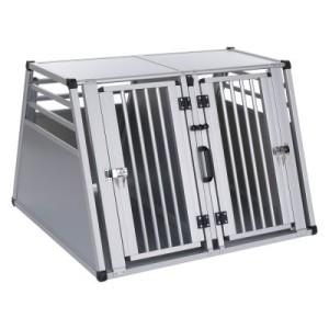Autohundebox Aluline Doppelbox - Größe XL: B 97 x T 92 x H 68 cm