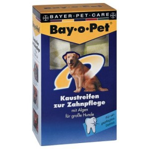 Bay-o-Pet Zahnpflege Kaustreifen für große Hunde - 6 x 140 g